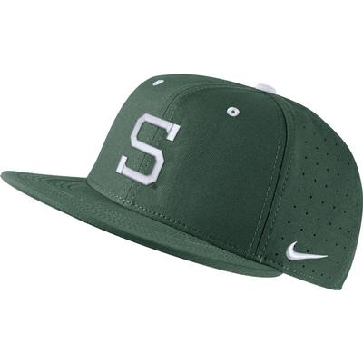 Michigan State Nike Aero Baseball Fitted Cap