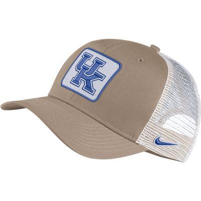 Kentucky Nike Adjustable C99 Trucker Hat KHAKI/WHITE_MESH