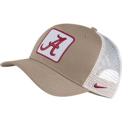 Alabama Nike Adjustable C99 Trucker Hat KHAKI/WHT_MESH