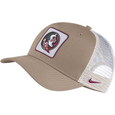 Florida State Nike Adjustable C99 Trucker Hat KHAKI/WHT_MESH