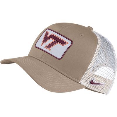Virginia Tech Nike Adjustable C99 Trucker Hat KHAKI/WHT_MESH