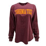 Virginia Tech L/S Vintage Wash Campus T- Shirt