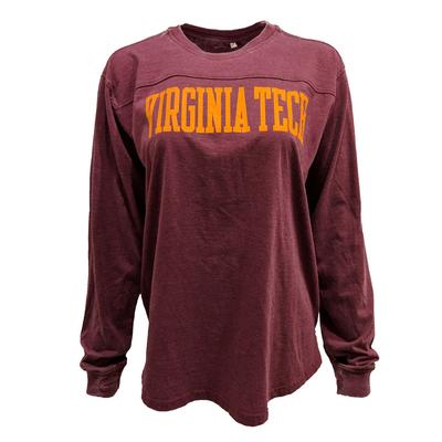 Virginia Tech L/S Vintage Wash Campus T-Shirt