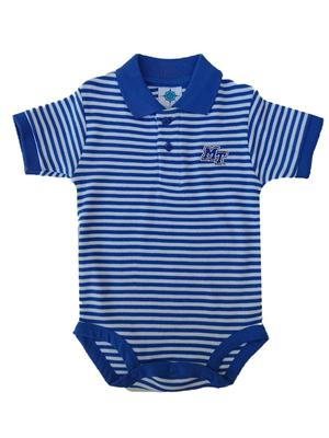 MTSU Infant Striped Polo Body Suit