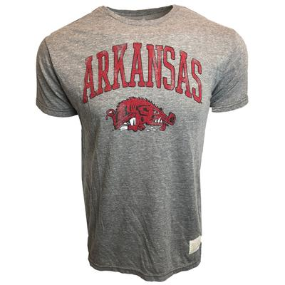 Arkansas Retro Brand Running Hog Slub Tee