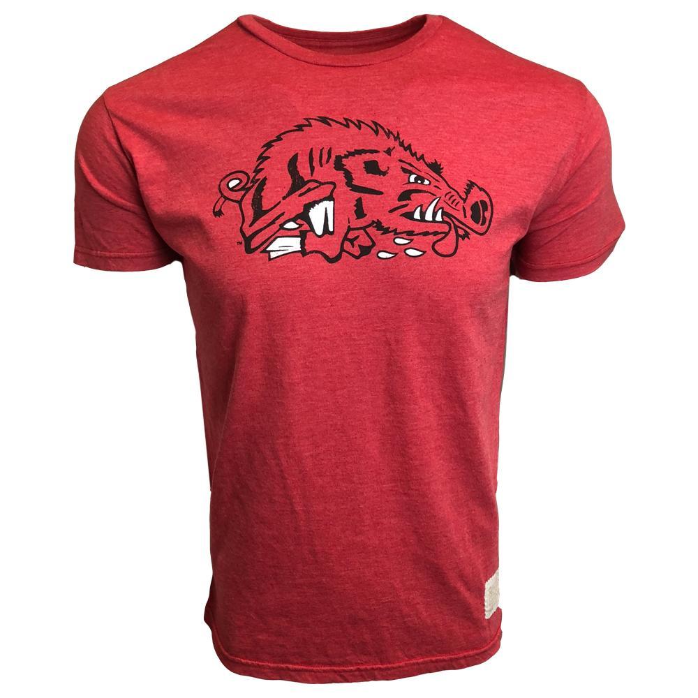 Arkansas Retro Brand Running Hog Heathered Tee
