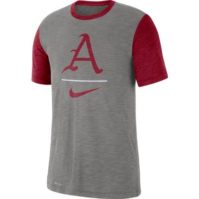 Arkansas Nike Dri-Fit Short Sleeve Raglan Tee