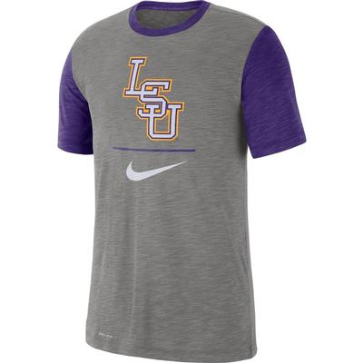 LSU Nike Dri-Fit Short Sleeve Raglan Tee