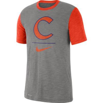 Clemson Nike Dri-Fit Short Sleeve Raglan Tee