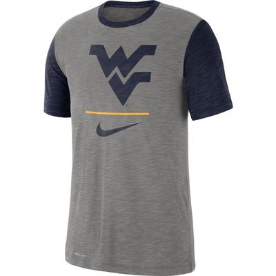West Virginia Nike Dri-Fit Short Sleeve Raglan Tee
