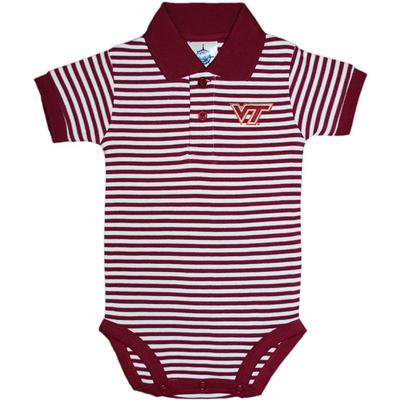 Virginia Tech Striped Polo Onesie