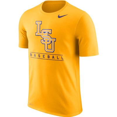 LSU Nike Dri-Fit Legend Team Issue Tee GOLD