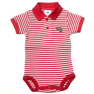 Western Kentucky Infant Striped Polo Body Suit