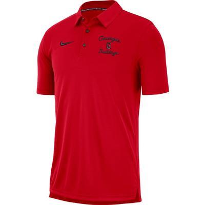 Georgia Nike Chain Stitch Dri-Fit Polo RED