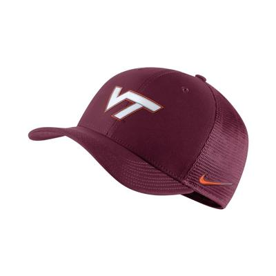 Virginia Tech Nike Dri-Fit Mesh Flex Fit Hat DEEP_MAROON