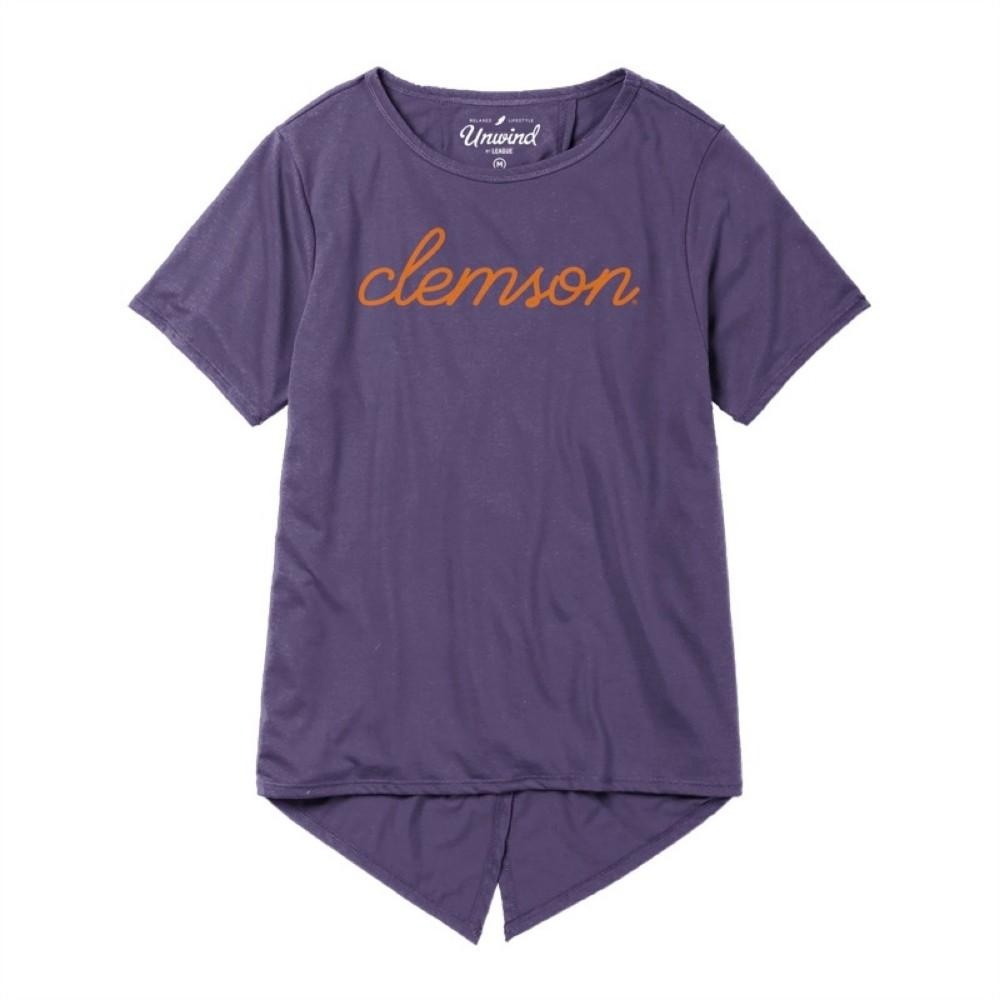 Clemson League Unwind Back Tie Tee