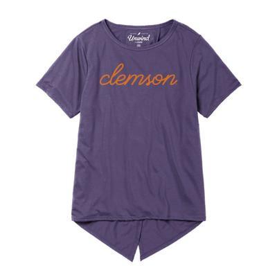 Clemson League Unwind Back Tie Tee
