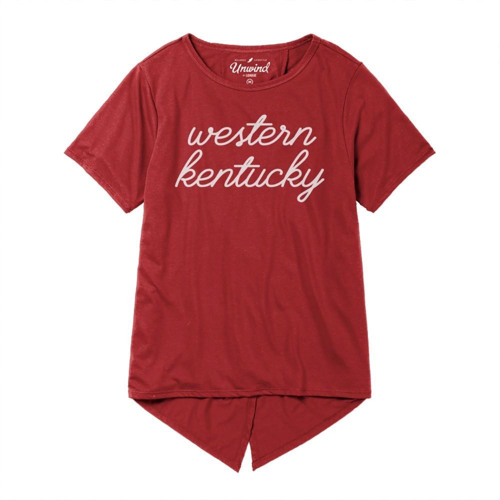 Western Kentucky League Unwind Back Tie Tee