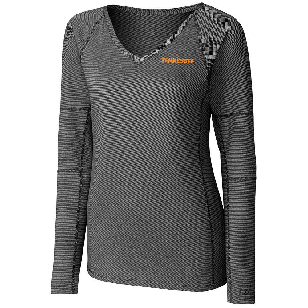 Tennessee Cutter And Buck Women's Victory Neck Long Sleeve Tee