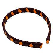 Maroon & Orange Criss Cross Headband