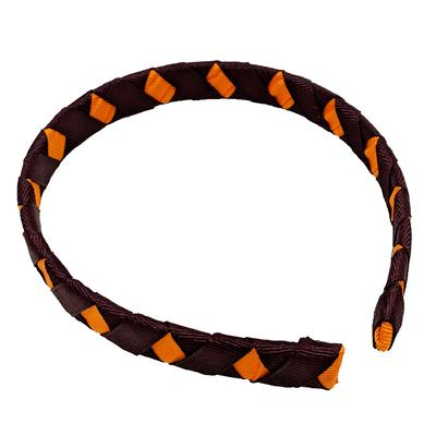 Maroon & Orange Criss Cross Headband