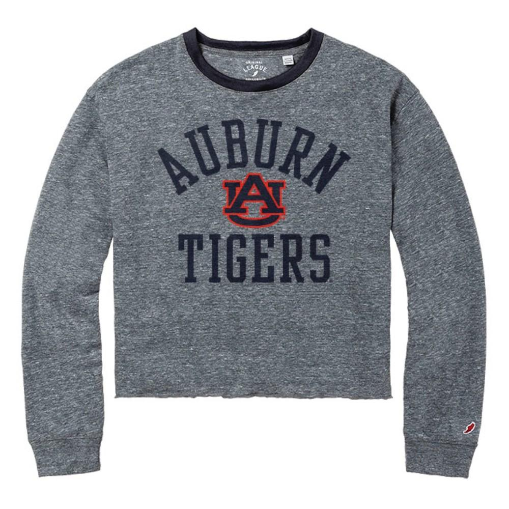 Auburn League Intramural Long Sleeve Crop Top