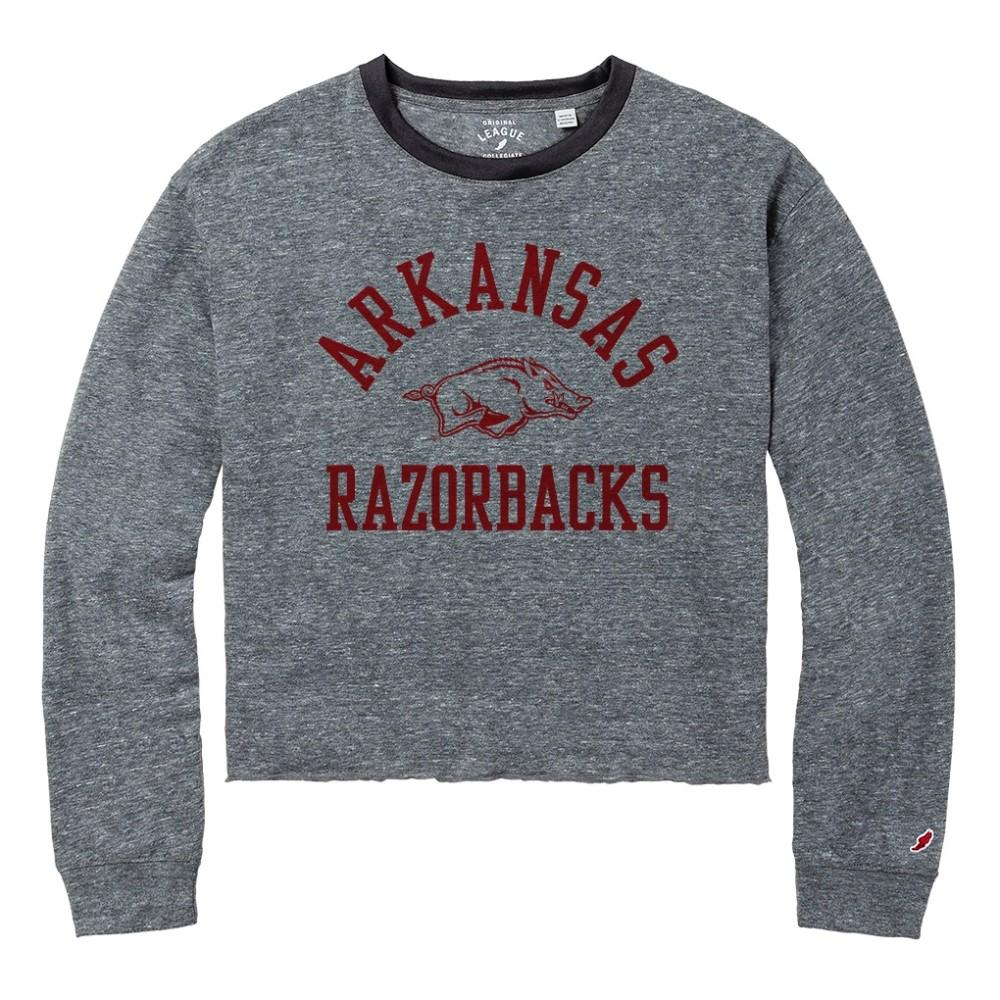 Arkansas League Intramural Long Sleeve Crop Top