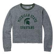 Michigan State League Intramural Long Sleeve Crop Top
