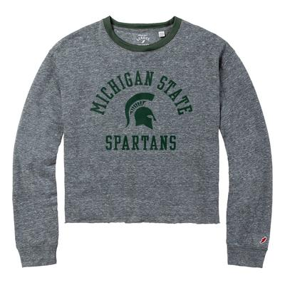 Michigan State League Intramural Long Sleeve Crop Top