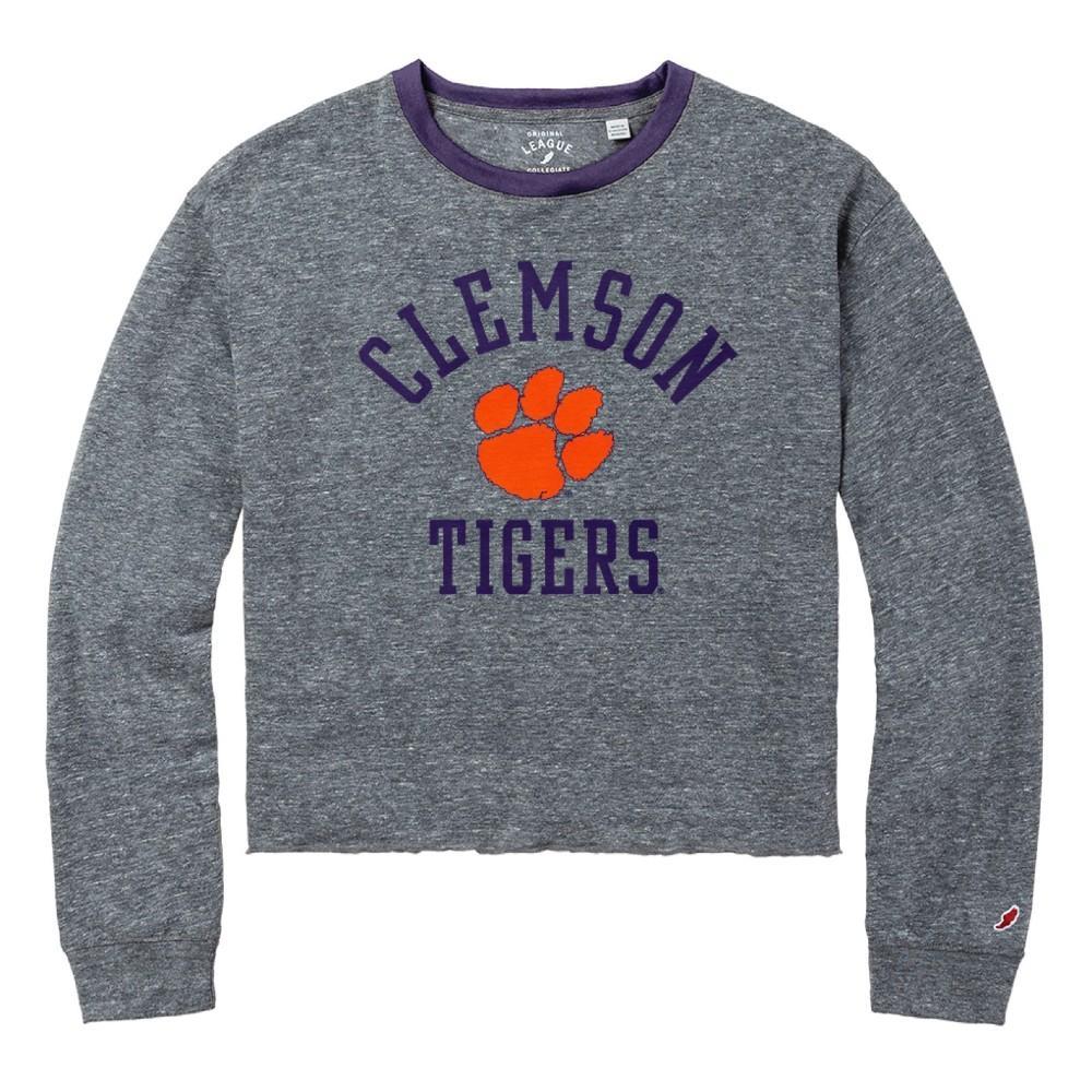 Clemson League Intramural Long Sleeve Crop Top