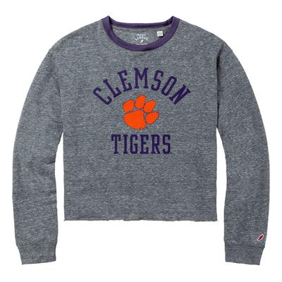 Clemson League Intramural Long Sleeve Crop Top