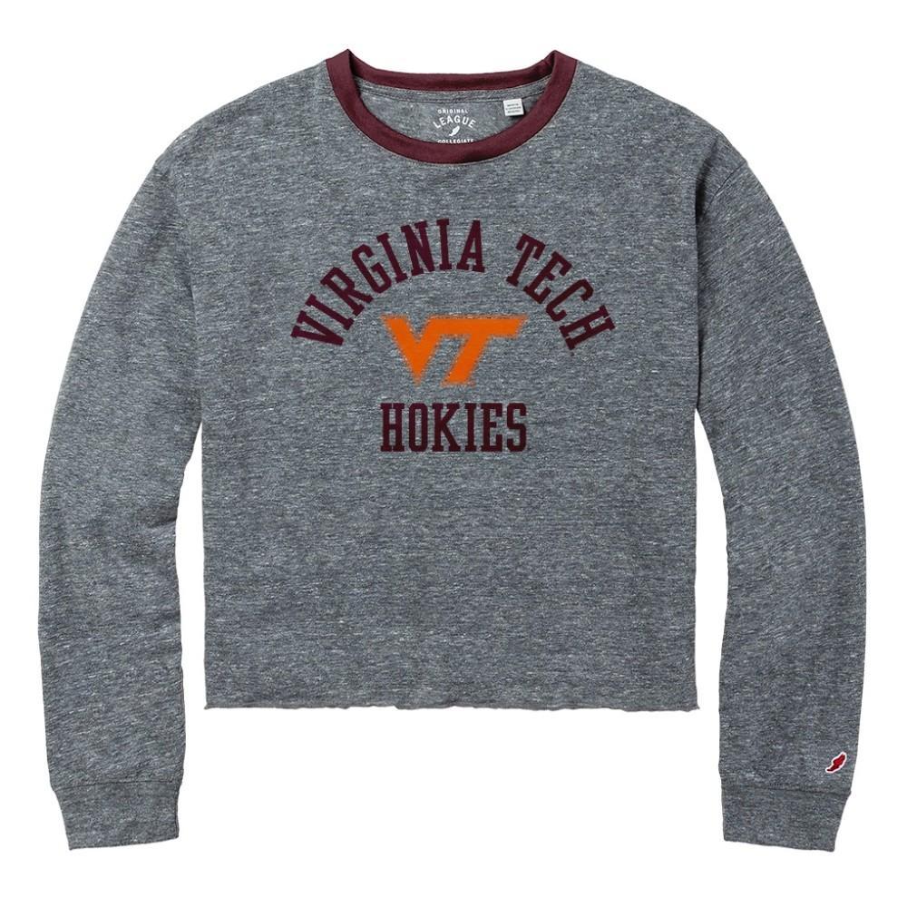Virginia Tech League Intramural Long Sleeve Crop Top