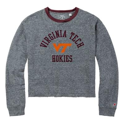 Virginia Tech League Intramural Long Sleeve Crop Top