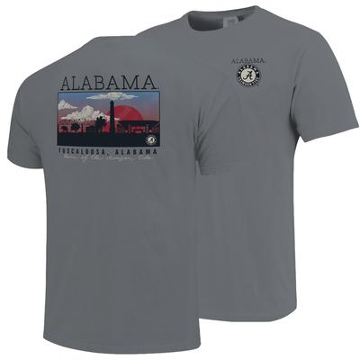 Alabama Comfort Colors Tuscaloosa Skyline Tee