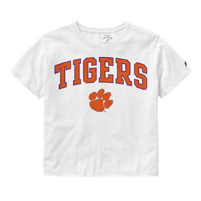 Clemson League Women's Clothesline Crop Tee
