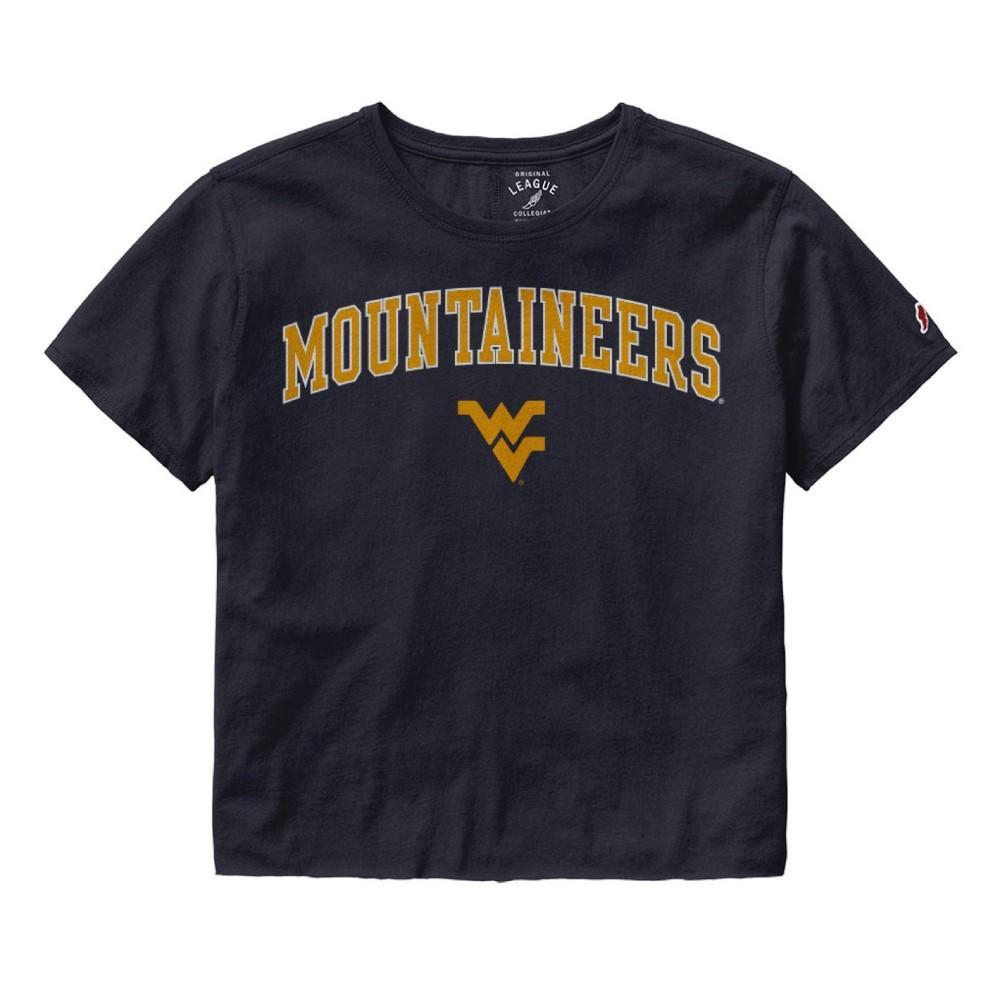 West Virginia League Women's Clothesline Crop Tee