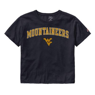 West Virginia League Women's Clothesline Crop Tee