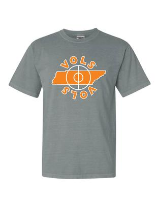 Tennessee Basketball Center Court Comfort Colors Tee