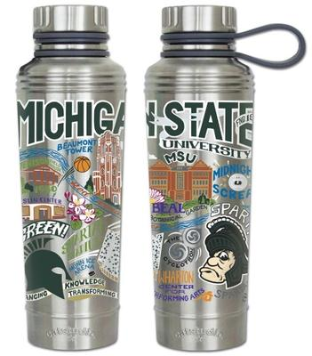 Michigan State Catsudios Stainless Steel Thermal Water Bottle