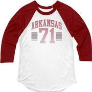 Arkansas Blue 84 Women's Hadley Baseball Tee