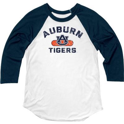 Auburn Blue 84 Women's Hadley Baseball Tee