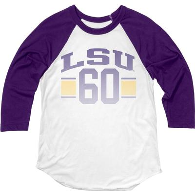 LSU Blue 84 Women's Hadley Baseball Tee