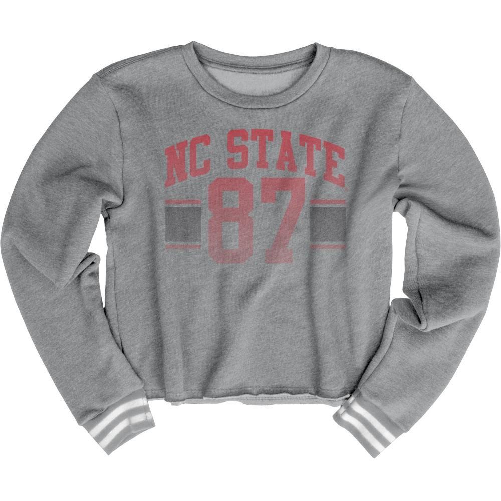 Nc State Blue 84 Women's Quinn Varsity Crop Top