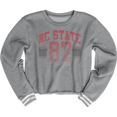 NC State Blue 84 Women's Quinn Varsity Crop Top