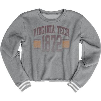 Virginia Tech Blue 84 Women's Quinn Varsity Crop Top