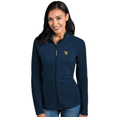 West Virginia Antigua Women's Sonar Full Zip Jacket