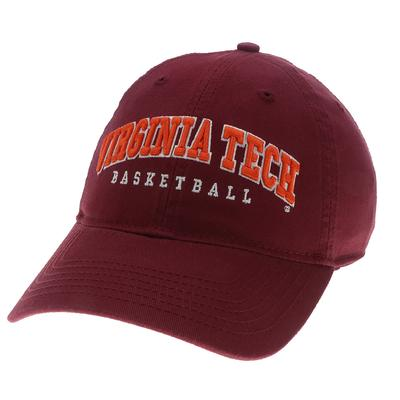 Virginia Tech Basketball Adjustable Crew Hat BURGUNDY