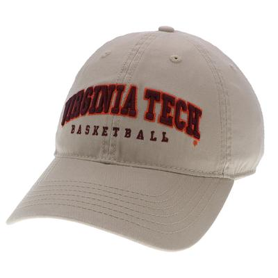 Virginia Tech Basketball Adjustable Crew Hat KHAKI