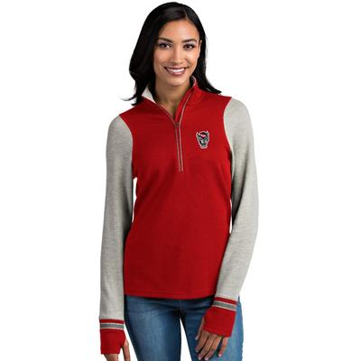 NC State Antigua Women's Pitch 1/2 Zip Pullover
