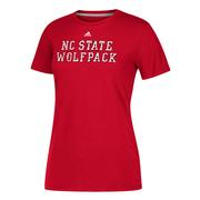 Nc State Adidas Women's Scribble Performance Tee